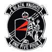 ワッペン ミリタリーパッチ VF-154 BLACKKIGHTS-Y2K エンブレム