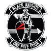 ワッペン ミリタリーパッチ VF-154 BLACKKNIGHTS エンブレム