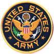 アメリカ陸軍 ミリタリーワッペン ARMY丸型L サバゲー装備