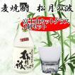 富士山グラス 麦焼酎 松月の波 720ml カットグラス1個 ギフトセット プレミアム焼酎 田島硝子 玄海酒造 母の日