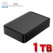 外付け HDD ハードディスク 1TB Windows10対応 TV録画 REGZA ブラック