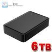 外付け HDD ハードディスク 6TB Windows10対応 TV録画 REGZA ブラック