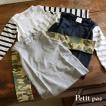 送料無料 Petit pas プティパ  袖切替長袖Tシャツ PTP1117 キッズ ベビー ジュニア トップス ロンT 子供 子ども 4015783
