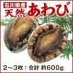 [石川県産]天然 活あわび:2〜3枚(約600g相当)