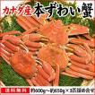 本ずわい蟹:約600g〜約650g×3匹 詰め合せ