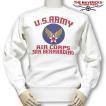 スウェット トレーナー ミリタリー メンズ 長袖 12oz 極厚手 裏起毛  USAACアメリカ陸軍航空隊モデル / オートミール
