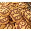 【うしさんクッキー】チョコレートで2021年の干支の牛を描いたクッキー、ミネラル豊富なきび砂糖と塩を使用