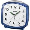 カシオ 電波時計 置時計 アナログ 目覚まし時計 アラビア数字 ブルー 青(CL15JU25BLU)ベル音 アラーム スヌーズ ライト付き CASIO 卓上 電波時計 置き時計
