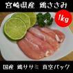 鶏肉 鳥肉 国産 鶏ササミ 真空パック 1kg