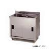業務用シンク 一槽キャビネット 東製作所 アズマ AP1-900K 900×450×800 メーカー直送/代金引換決済不可