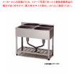 シンク 業務用二槽シンク 東製作所 アズマ KP2-1000 1000×450×800 メーカー直送/代金引換決済不可