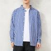 チェックシャツ メンズ ストライプシャツ 長袖 カジュアルシャツ ボタンダウン チェック ストライプ 柄 2017 春 新作 プレミアムセール