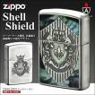 ZIPPO シェルシールド /盾/楯/紋章/貝貼り/おしゃれ/アーマーケース162番/ジッポーライター
