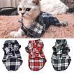 夏 ファッション 猫服チェック柄ペット猫シャツベスト小猫 ため 犬服子犬子猫衣装用品 グループ上 ホーム ガーデン から 猫 服 中