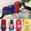 秋 冬暖かいソフト猫服漫画プリントパーカーコート猫 服かわいい子猫衣装 グループ上 ホーム ガーデン から 猫 服 中