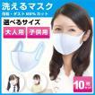 洗える マスク 10枚  [3営業日以内に発送]  白 子供用 大人用 送料無料13