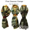 Four Seasons Garage ボアストール マフラー レザーベルト付き ネイティブ柄 クロ グレー ボルドー フリーサイズ