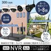 防犯カメラ ワイヤレス リレーアタック対策 屋内 屋内 無線NVR +ワイヤレスIPカメラ4台セットWiFi 監視カメラ 遠隔監視