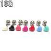 ボディピアス 16G 全8色 プチサイズポップハートチャームバーベル (1.2mm) 約6mm BP-BC187 ボディーピアス 耳たぶ イヤロブ 軟骨 トラガス ヘリックス 男女兼用