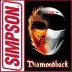 SIMPSON DIAMONDBACK シンプソン  ヘルメット ダイヤモンドバック ホワイト 即納 ただし平日12時まで シールドプレゼント