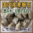国産 麦飯石【Lサイズ、1kg】【美...
