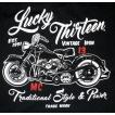 ラッキー13 LUCKY13 Tシャツ Vintage Iron 黒