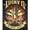 ラッキー13 Tシャツ LUCKY13 PLUG 黒