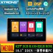 (TBX104) XTRONS 10.1インチ 8コア Android9.0 ROM64GB+RAM4GB 静電式2DIN一体型車載PC 高画質 DVDプレーヤー カーナビ OBD2 TPMS搭載可 4G WIFI ミラーリング