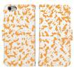 iPhone8 iPhone7 iPhone6/6s iPhone 5/5s/SE アイフォン ケース  手帳 型 大 人気 パンダ panda 迷彩 オレンジ