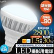 LED電球 撮影照明用 LEDランプ 300W相当 散光型 高演色ra90 E26 白色2800lm/電球色2600lm 調光器対応