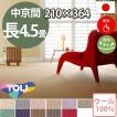 カーペット 中京間 長四畳半 長4畳半 ウールカーペット ラグ 長4.5帖(210×364) 絨毯 東リ ボンフリー