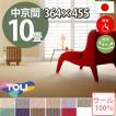 カーペット 中京間 十畳 10畳 ウールカーペット ラグ 10帖(364×455) 絨毯 東リ ボンフリー