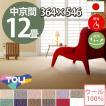 カーペット 中京間 十二畳 12畳 ウールカーペット ラグ 12帖(364×546) 絨毯 東リ ボンフリー