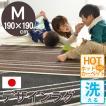 ラグ マット 2畳 洗えるラグ カーペット モロッコ シンプル モダン 190x190cm ラグ 赤ちゃん リビング ホットカーペット対応 モダンline