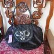 ipa-nima:イパニマ デザイナーズブランドバッグ アジアン バッグ 黒−濃紫