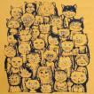 ニャンコTシャツ ネコがいっぱいのかわいいデザインが女の子に人気!「ニャンコまみれ」 ナチュラルなデザインTシャツ