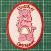 お子様の入学バッグに! 人気のケアベアのアイロンワッペンはキュートすぎ!「Care Bear(Cheer Bear)」 定型郵便送料無料