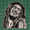 アイロンワッペン レゲエ界の不世出のカリスマ!「Bob Marley(ボブ・マーリィ)」 定型郵便送料無料