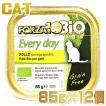 最短賞味2020.7・リニューアル品フォルツァ10 猫 BIO エブリデイ ビオ チキン 85g×12個セット ウェット キャットフード オーガニック FORZA10 正規品