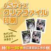 A5クリアファイル作成【B:16〜30枚】