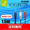 【新製品】Φ3.5mm ステレオミニプラグ - RCA ピンプラグ(ステレオ)ケーブル  金メッキ端子 1.5m