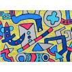 カミジョウミカ「迷い道にマヨワナイ街」 コンテンポラリーアート アクリルガッシュ F4号 真作保証 注目のコンテンポラリー画家!