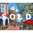 鈴木マサハル 「モンマルトル」 油彩 F8号 真作保証 欧州風景画 人気実力画家 色鮮やか 重厚なマチエール! 傑作!