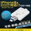 カードリーダー iphoneX/8/Android対応 SD/TFカードリーダー iPhone/iPad/Android/コンピューター用 トレイルカメラ用SDカードリーダー IOS11対応