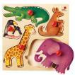 パズル 子供 幼児 知育玩具 木のおもちゃ 1歳 2歳 3歳 誕生日プレゼント グライフパズル 動物