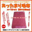 あったまり毛布 軽量コットンタッチハーフケット 日本製 ピンク
