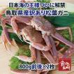 訳あり特上松葉ガニ(ズワイガニ) (活)大サイズ2枚 2枚で1.6kg前後 1落ち程度 (かに/カニ/蟹)
