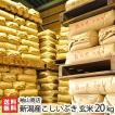 30年度米 新潟産こしいぶき 玄米20kg(10kg袋×2) 袖山商店/米屋の蔵出し米/ギフト プレゼント お祝い 贈り物 のし無料 送料無料