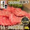 バーベキュー 牛肉 A5等級 焼肉用 飛騨牛 もも・かた肉 500g1パック BBQ やきにく 黒毛和牛 食材 冷凍