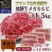 バーベキュー 焼肉 牛肉 BBQ 飛騨牛 食材 送料無料 カルビ ギガ 1.5kg  500g×3 約6人前